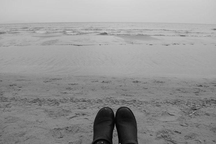 Beach Feet Shoes Blackandwhite Sand Sea Water Waves Beach Photography