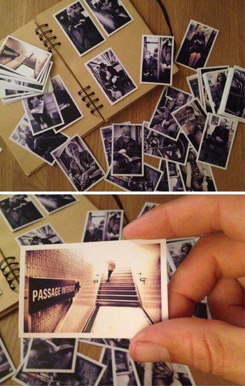 Quand les photos sortent du mobile... Création d'un p'tit album photo pour mes gens du Subway Metro Paris Une Bonne qualité de papier cartonné avec une impression mat via Social Print Studio Et directement du téléphone!