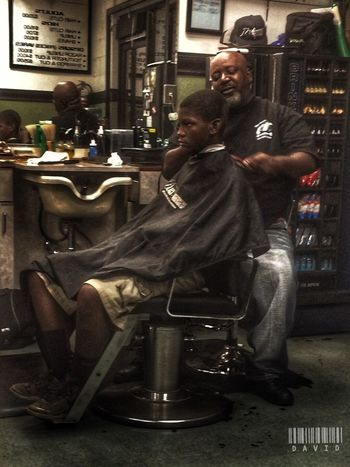Was taking a trip through my iPhoto and..... Haircut Getting Fresh HDR Hdr_Collection People People Photography Barbershop HDR Collection