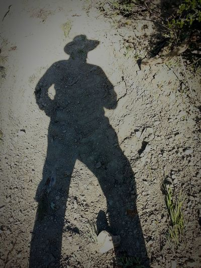 Man Shadow Cowboy Forest Farm Red Kit Gölge Adam Ciflik Hi Hello World