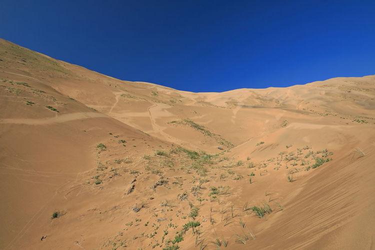 1192 leeward side-lake nuoertu's w.megadune-e.facing slope- badain jaran desert-inner mongolia-china