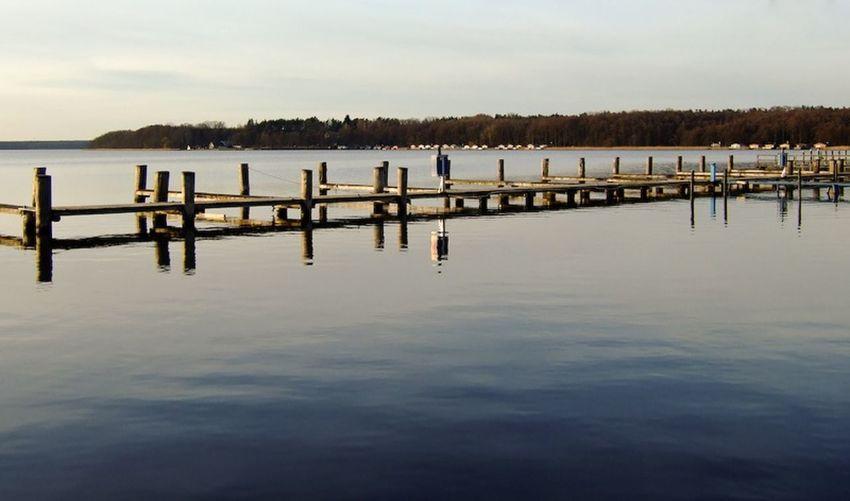 Pier on lake