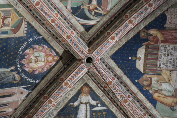 Cappella di San Brizio Cappella Di San Brizio Luca Signorelli, Architecture Built Structure Ceiling Ceiling Design Close-up Dome Fresco History Indoors  No People Place Of Worship Religion Travel Destinations