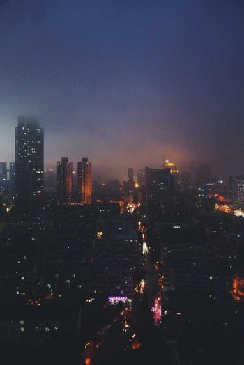The night view of someday...about half a month ago. First Eyeem Photo Cityscapes Nanjing