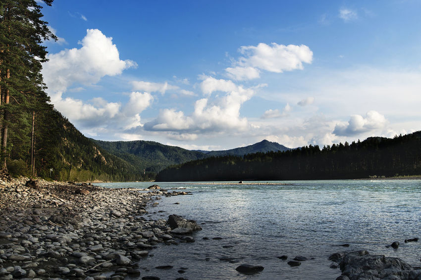 Altai Beauty In Nature Day Lake Landscape Mountain Mountain Range Nature No People Outdoors Scenics Sky Tranquil Scene Tranquility Water