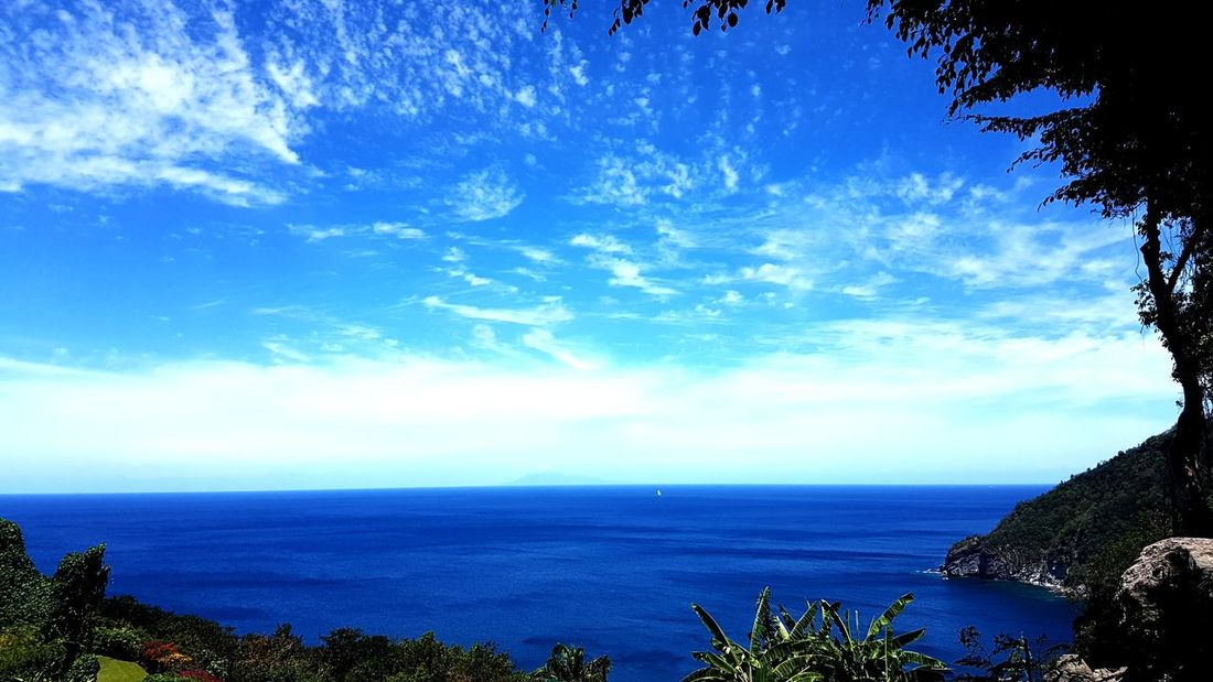 Sea Blue Horizon Over Water Outdoors Cloud - Sky Water Tranquility Sky Nature Beauty In Nature Guadeloupe Gwadeloupe Gwada  Tropical Climate