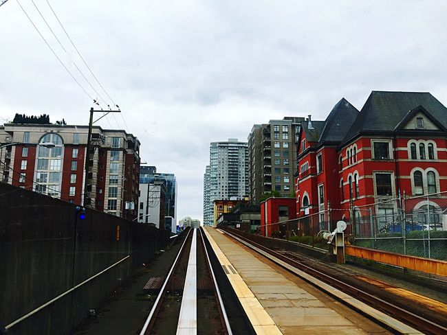 Starting A Trip Newwestminster Sky Bridge Sky_collection On The Skytrain Riding The Train City Hello World Urban Architecture Up