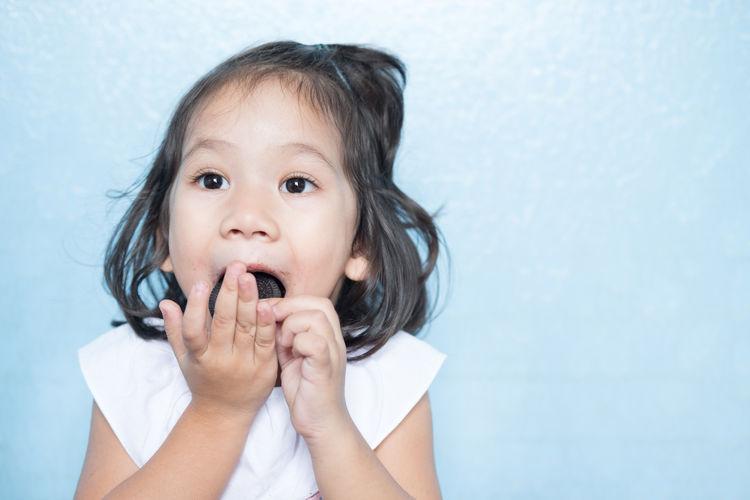 Portrait of cute girl