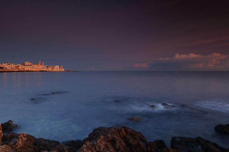 Apulia Italy Italia Puglia Mediterranean Sea Adriatic Sea Beauty In Nature Day Giovinazzo Horizon Over Water Nature Nicola Ranieri No People Outdoors Scenics Sea Sky Sunrise Sunset Tranquil Scene Tranquility Water