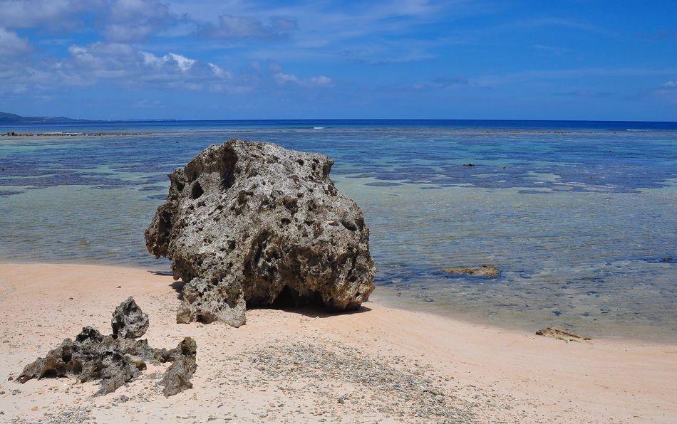 Fai Fai Powder sand beach, Guam Sea Beach Rock - Object Beauty In Nature Water Scenics Tranquility Outdoors Idyllic