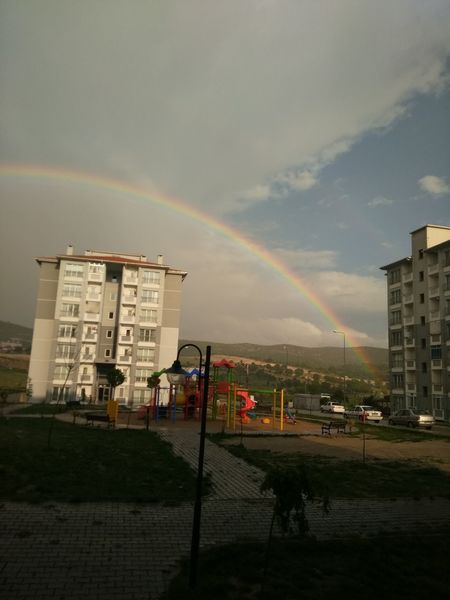 Yağmur Sonrası Rainbow Built Structure Building Exterior Architecture Double Rainbow No People Cloud - Sky Multi Colored Refraction Outdoors Day Sky Spectrum Nature Amatör çekimlerim Fırst Eyeem Photo Kütahyalı First Eyeem Photo Hello World Eyem EyeEm