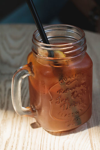 Coffee Food And Drink Close-up Cold Beverages Cold Ice Tea Drink Food Ice Tea Shadow Table