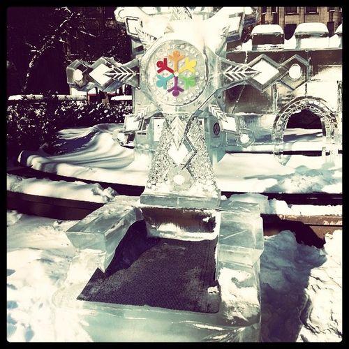 Ice Sculpture Chair at Ricepark Ice Sculpture Cold winterfun