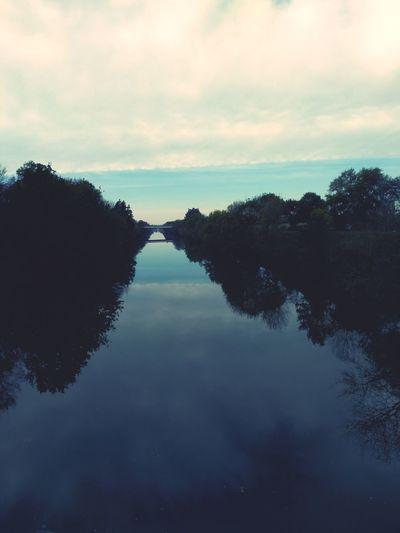Tree Water Lake Reflection Sky Cloud - Sky