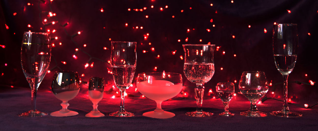 Alcohol Celebration Close-up Drink Drinking Glass Food And Drink Freshness Illuminated Indoors  Night No People Red Red Wine Refreshment Table Wine Wineglass