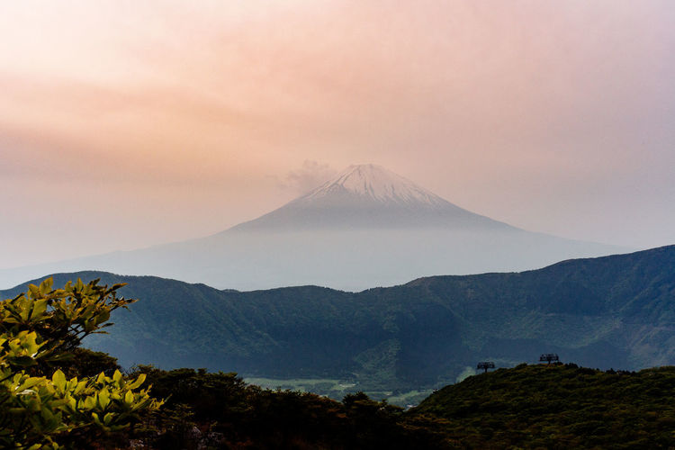 Mount FuJi Beauty In Nature Cloud - Sky Environment Fuji Idyllic Land Landscape Mountain Mountain Peak Mountain Range Mountfuji Nature No People Non-urban Scene Outdoors Plant Scenics - Nature Sky Sunset Tranquil Scene Tranquility Travel Travel Destinations Volcano A New Beginning