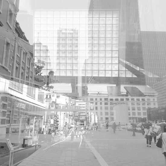 Tokyo Collage Multiple Exposures Monochrome