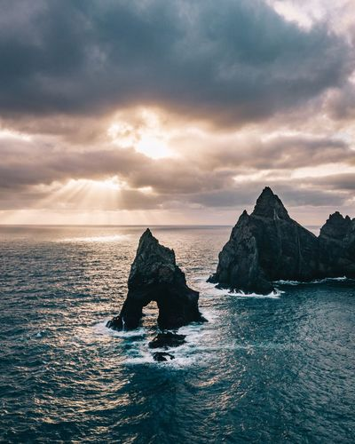tears of nature EyeEm Nature Lover EyeEm Best Shots Copy Space Landscape_Collection Nature_collection Aerial Shot Aerial View Dronephotography Drone  Ocean Landscape Nature_collection Sunrise Sky Water Sea Cloud - Sky Scenics - Nature Beauty In Nature Tranquility Rock Nature Outdoors