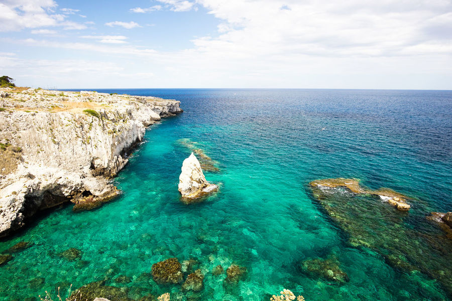 Beautiful seaview with emerald water in Syracuse, Italy Beauty In Nature Emerald Water Horizon Over Water Idyllic Nature Outdoors Scenics Sea Tranquil Scene Water