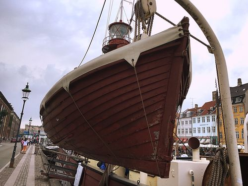 Light And Shadow Light Boat Peolple Going Sailing Lifeboat Denmark Fine Art Photography Travel Photography Old Boats The Kanals Waterfront Habour Wonderful Copenhagen