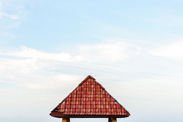 small house near beach at Kuala Terengganu Architecture Building Exterior Cloud - Sky Day No People Outdoors Roof Sky Tiled Roof