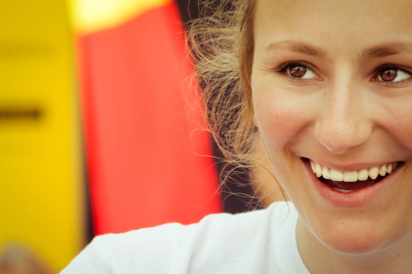 German Beautiful Woman Blonde Girl Body Part Cheerful Close-up Emotion Front View Hair Hairstyle Happiness Headshot Human Face Lifestyles Looking At Camera Mouth Open One Person Portrait Smile Smiling Teeth Toothy Smile Women Young Adult Young Women Visual Creativity Adventures In The City