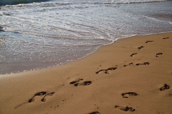 Desktop Holiday Vacations Beach Beauty In Nature Close-up Foot Trail Nature No People Outdoors Sand Scenics Sea Shore Traces Traces In The Sand Trail Tranquility Water Wave Done That. Perspectives On Nature