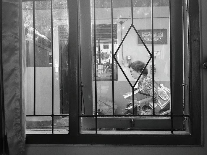 She is my art teacher. She teach me how to do Balinese dance.Window Indoors  Day Human Blackandwhite Teachers
