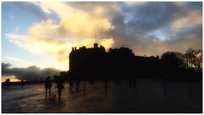 Edinburgh Castle Edinburgh Dusk People People Watching Clouds And Sky Glow Silhouette Tour Tourists EyeEm Gallery Eye4photography  EyeEm