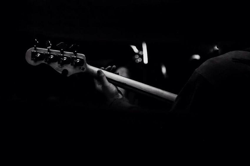 Guitar Bass Holding Human Body Part Close-up Music Human Hand Thailand Photography Light And Shadow EyeEmNewHere Blackandwhite Black And White Blackandwhite Photography