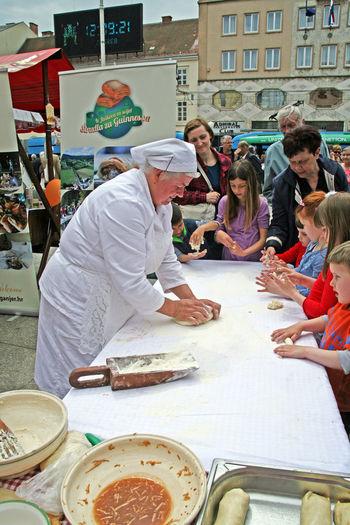 Woman prepares 'strudla',Karlovac's county fair,Zagreb,Croatia,EU, 2016. City City Life Cook  Croatia Day Eu Fair Food Karlovac's County Fair Outdoors Preparing Strudla Woman, Zagreb