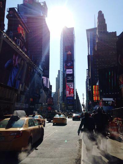 Travel Time Square Newyorkcity United States Winter