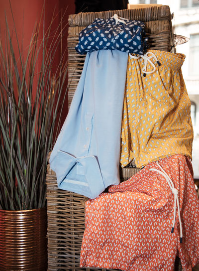 Basket Casual Clothing Close-up Clothes Clothing Coathanger Colorful Day Dress Fashion Floral Pattern Furniture Hanging Indoors  Lifestyles No People Pattern Relaxation Studio Photography Studio Shot Summer Summer Vibes Textile Variation Wicker The Still Life Photographer - 2018 EyeEm Awards