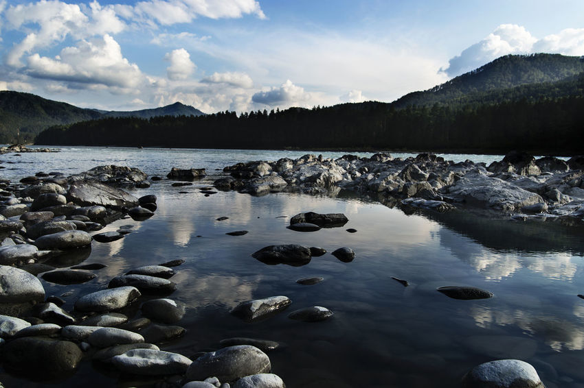 Nature Reflection Altai Cloud - Sky Mountain River Water