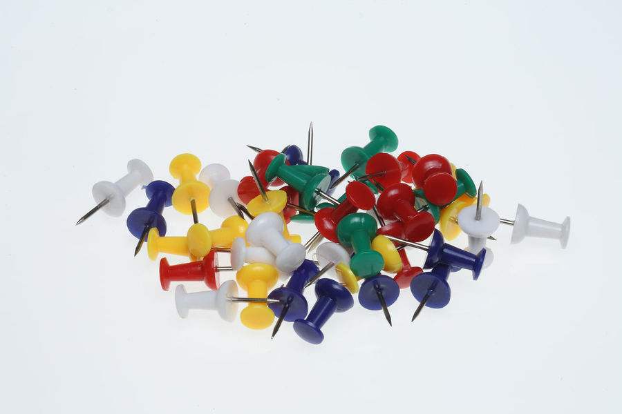colorful pushpins or pushneedles Business Close-up Day Growth Large Group Of Objects Multi Colored Needle No People Notice Noticeb Office Pushneedles Pushpin Pushpins Studio Shot Tool White Background Working