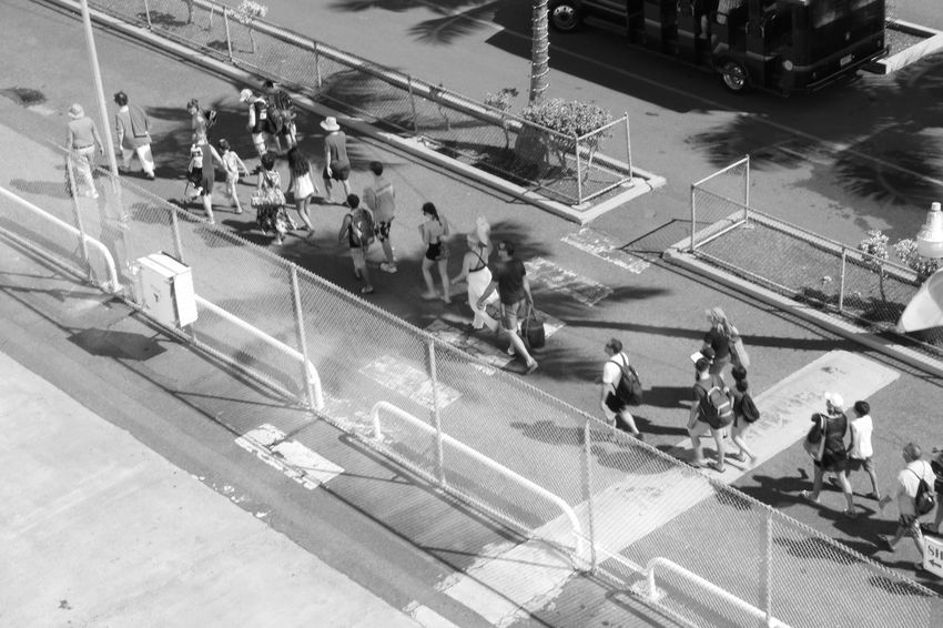 Ascending Blackandwhite Crowds Greyscale High Angle View People, Processions, Queue Tourists Vacations