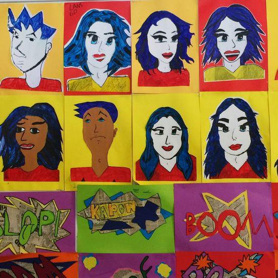 Warhol Warhol Inspired Pop Art Pop Art Inspired Check This Out Art Display Andy Warhol Colourful Pop Art Kids Art Kids Artwork