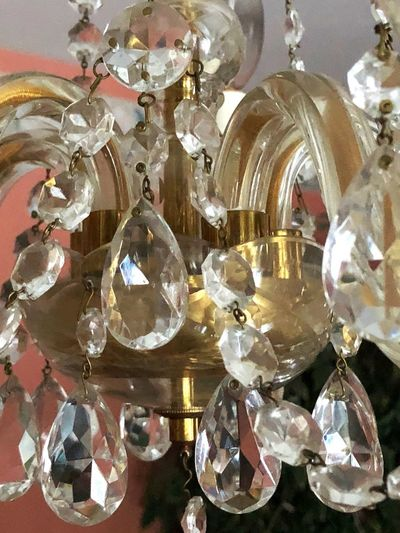Lightning Sides Lights Candelabra Festivities Glass Shiny Crystal Close-up No People Indoors  Hanging Large Group Of Objects Low Angle View Luxury Day
