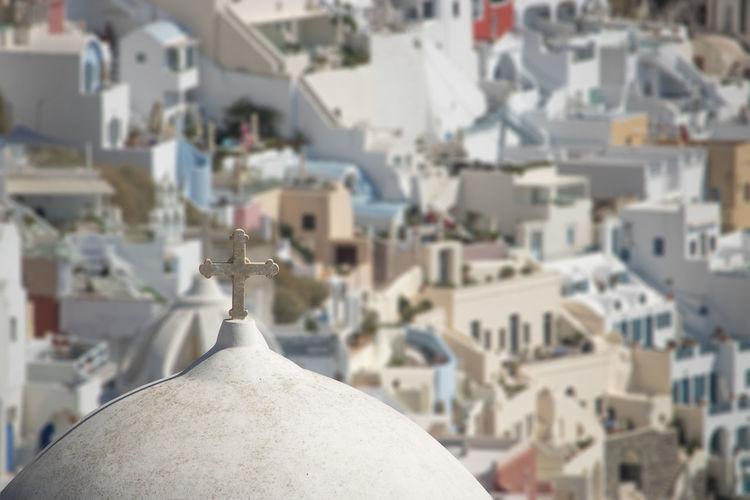 Greece Santorini City White Color TOWNSCAPE Focus