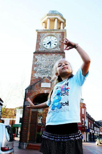 Little Thailand girl on England.