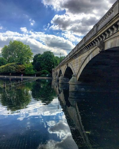 Architecture Built Structure Cloud - Sky Sky Water Reflection Arch Day River History Outdoors No People Building Exterior Architectural Column Tree Nature London The Week Of Eyeem Picoftheday EyeEm Best Edits EyeEm Best Shots Oziref