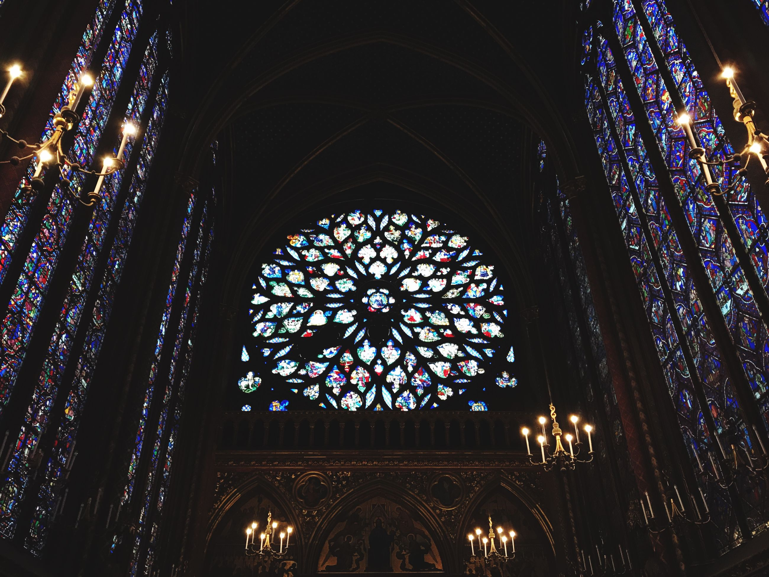 architecture, window, religion, indoors, place of worship, built structure, illuminated, no people