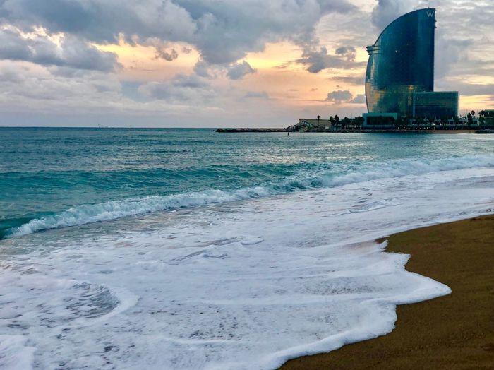 Water Sea Sky Beach Cloud - Sky Land Beauty In Nature