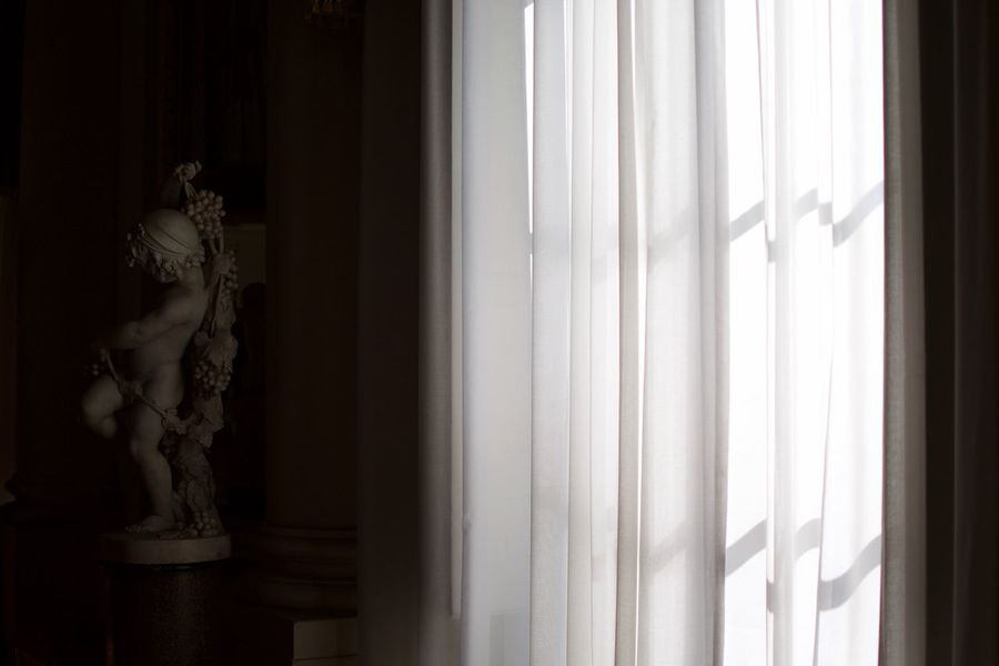 Palazzo statues. Statue Human Representation Indoors  Window Sculpture Day No People Florence Palazzo Pitti Single Light Source Light And Shadow Curtains