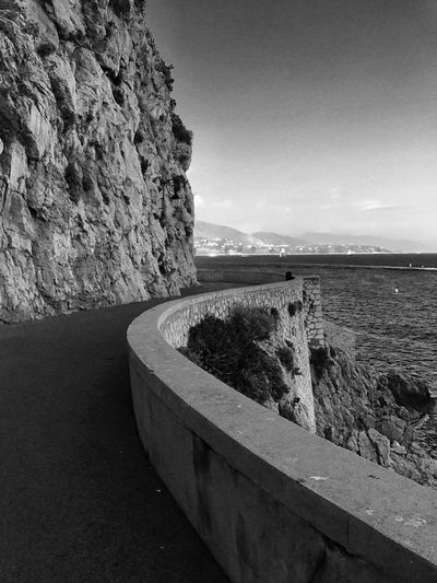 Monaco Rock - Object Nature Sky Tranquil Scene Beauty In Nature Tranquility No People Scenics Water Outdoors Day Sea Mountain Horizon Over Water