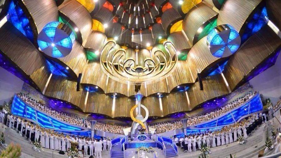 El interior templo de Hermosa Provincia