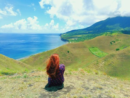 Wheninbatanes Batanes Islands Basco, Batanes BatANESSA HillTopView Hilltop Clouds Daydreaming Daydreamer Outdoors Daydreamer ♥ Solotraveler Travelsolo YOLO ✌ Single Singlewoman Rocky The Traveler - 2018 EyeEm Awards Water Sea Beach Sand Sky Horizon Over Water Landscape Cloud - Sky Cliff Rocky Coastline Rocky Mountains Coast The Great Outdoors - 2018 EyeEm Awards