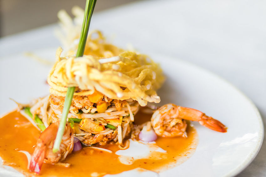 "Thai Fried Noodles ""Pad Thai"" with shrimp and vegetables Asian Cuisine Asian Food Close-up Cooking Cuisine Delicious Diner Eat Food Food And Drink Freshness Healthy Eating Noodle Pad Thai Plate Restaurant Shrimp Spicy Food Street Thai Food Thailand Traditional"