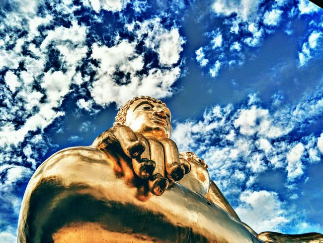 Low Angle View Sky Cloud Cloud - Sky Day Outdoors Blue Cloudy Bouddha  Norththailand