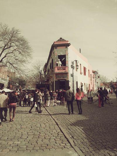 La Boca Caminando City Paisaje Ciudad Treavelling Lovely Day